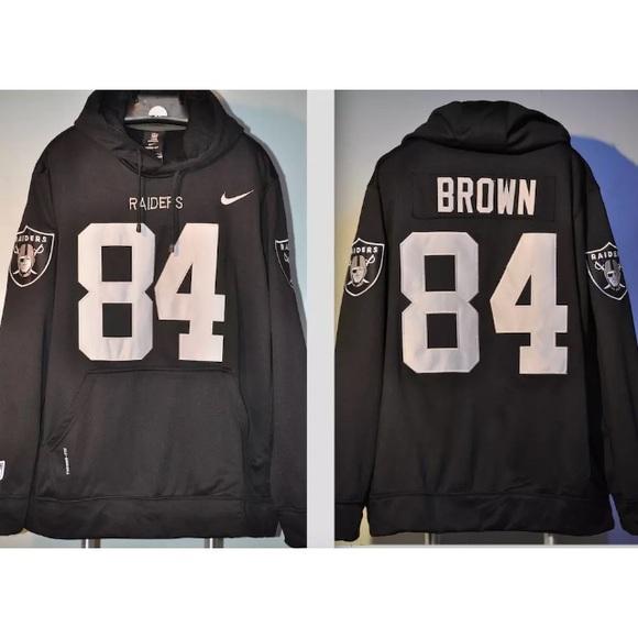 los angeles 0cb89 503cf Antonio Brown Raiders Jersey hooded sweatshirt NWT
